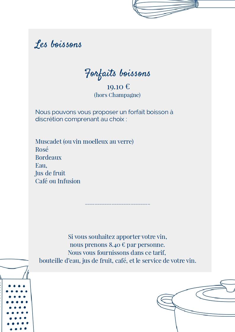 menu mariage 2017