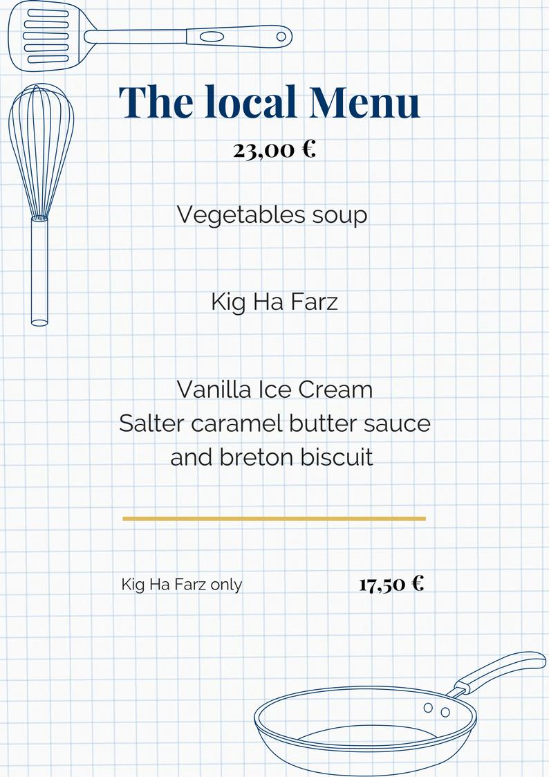 the local menu